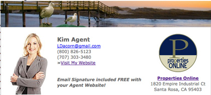 Sample of an Email Signature